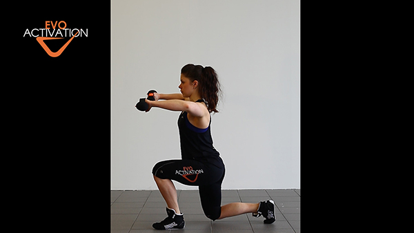 Evo step squat with side laterals
